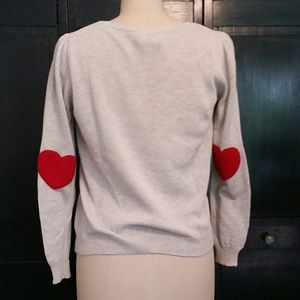 Modcloth Sweater with Heart Elbow Patches